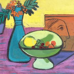 Still life with green bowl