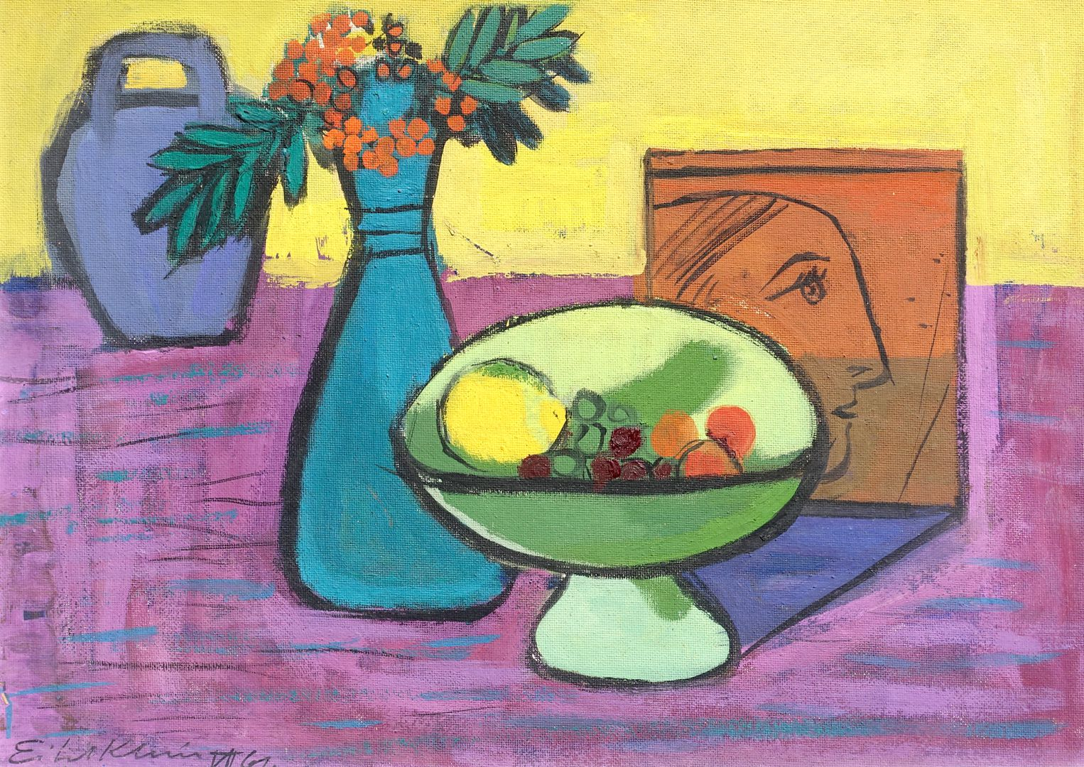 Still life with green bowl General view