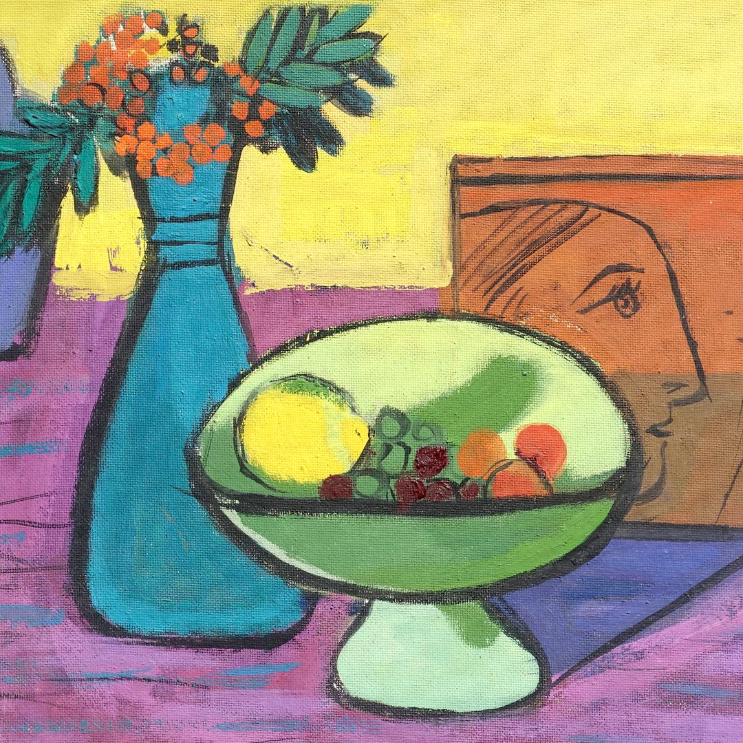 Still life with green bowl Detail