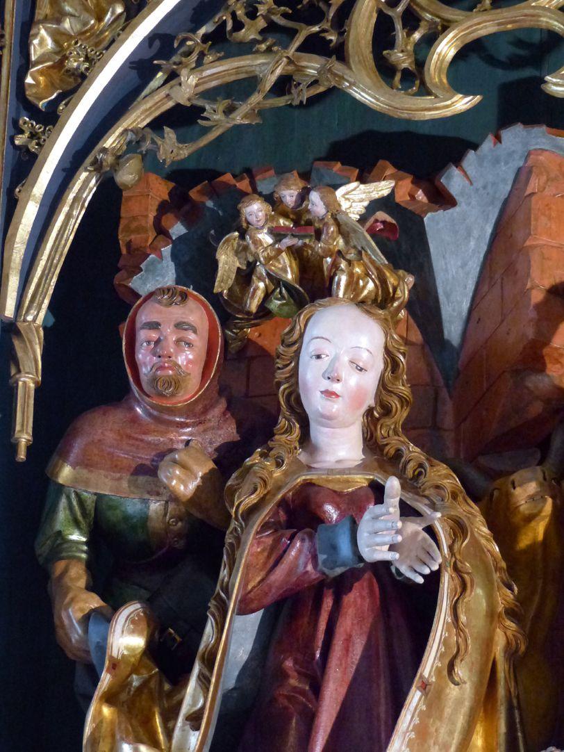 Altar of Mary (Salzburg) Central shrine, Mary and Joseph