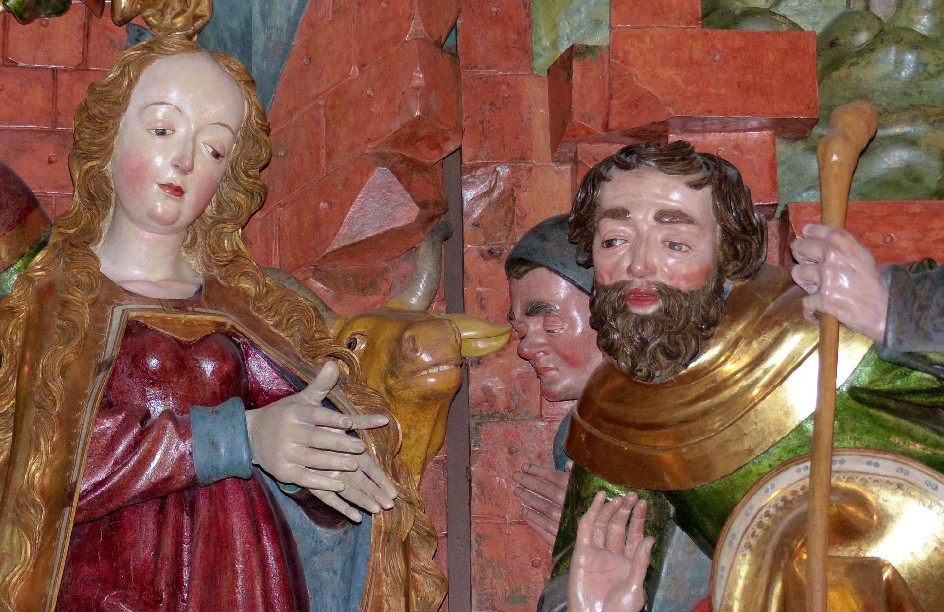 Altar of Mary (Salzburg) Central shrine, Mary and shepherds