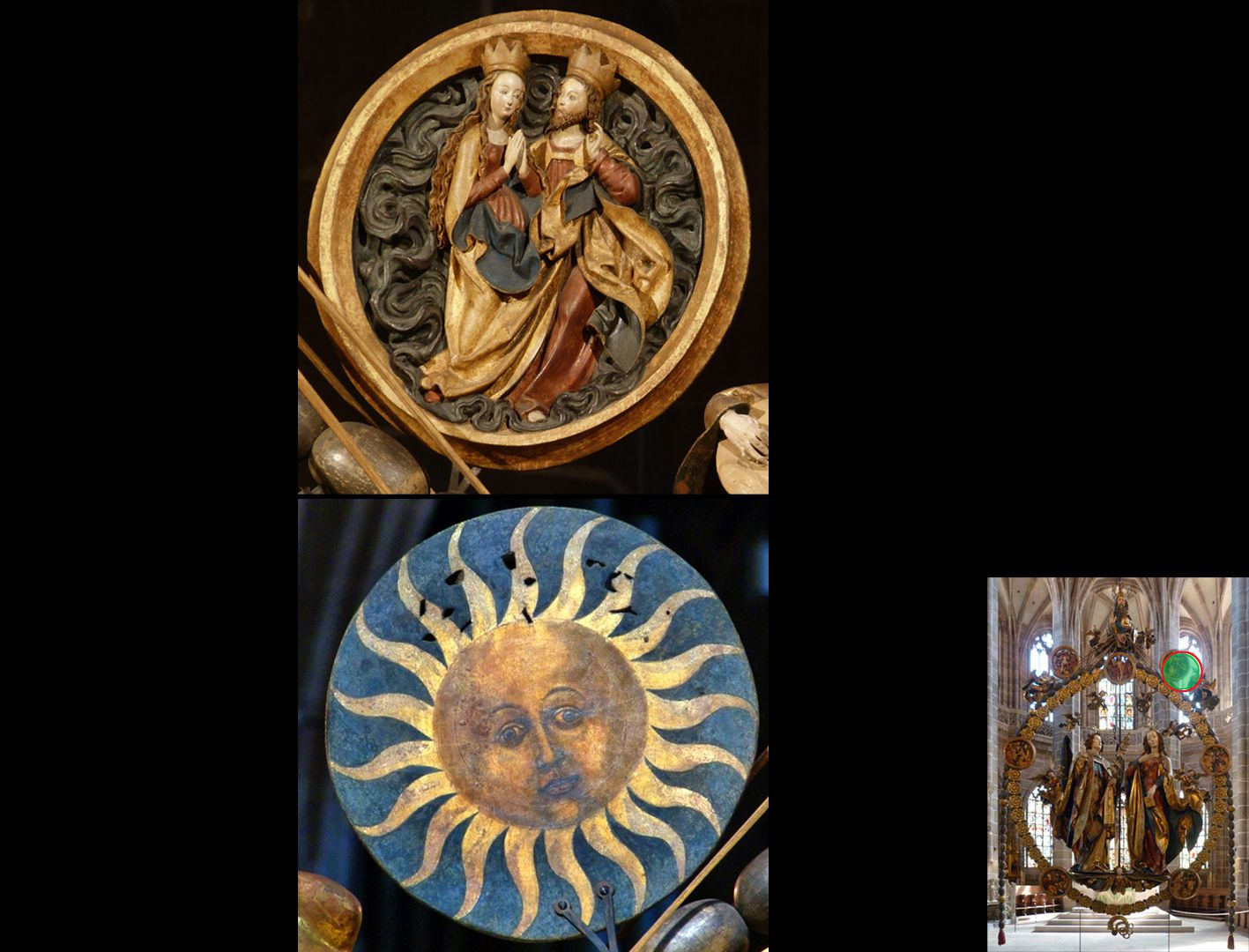 Angelic Salutation Christ-Mary-medallion, front and back (highlight at the bottom right)