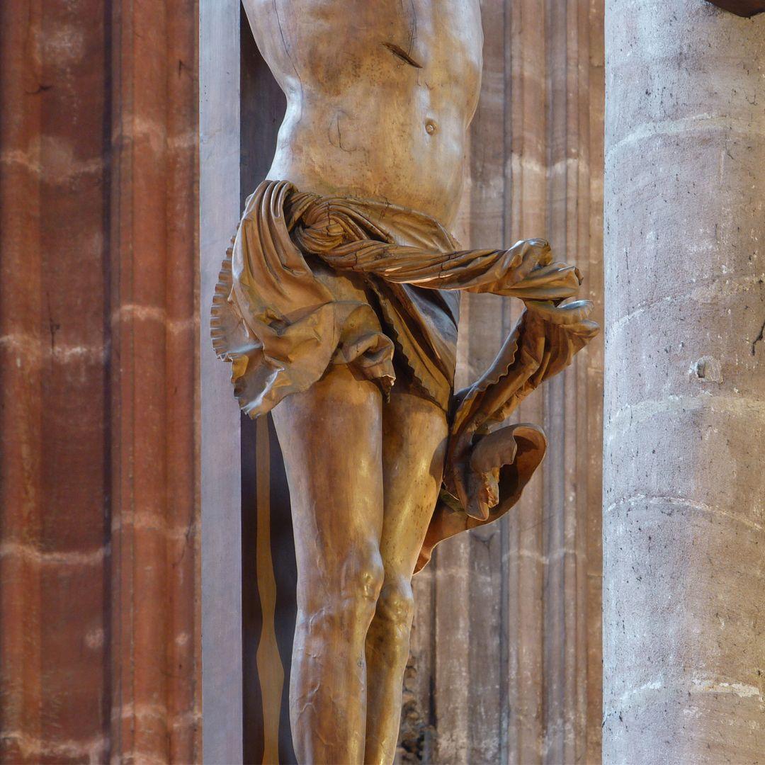 Crucifixus Lendentuch von Nordwest