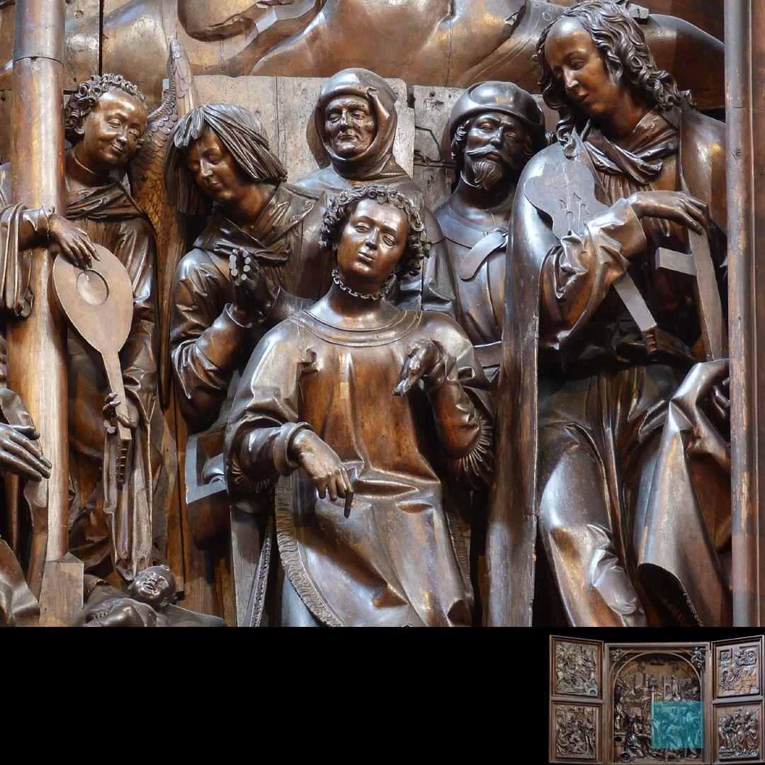 Marien-Altar Schrein, rechte Figurengruppe