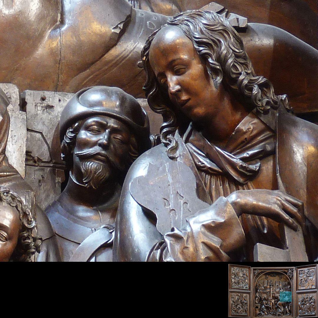Marien-Altar Schrein, Engelmusiker und Assistent