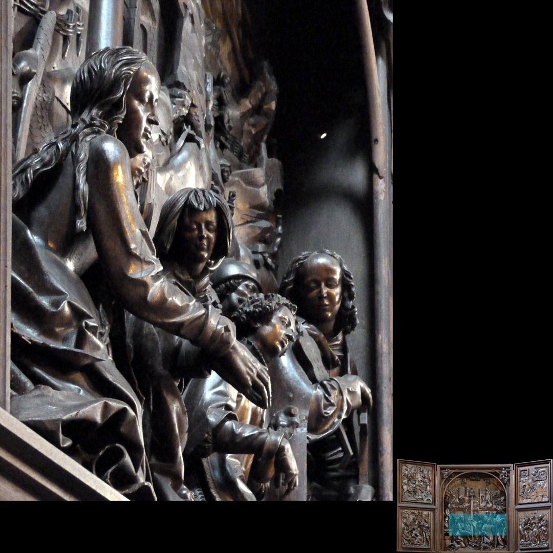 Marien-Altar Schrein, Schrägansicht