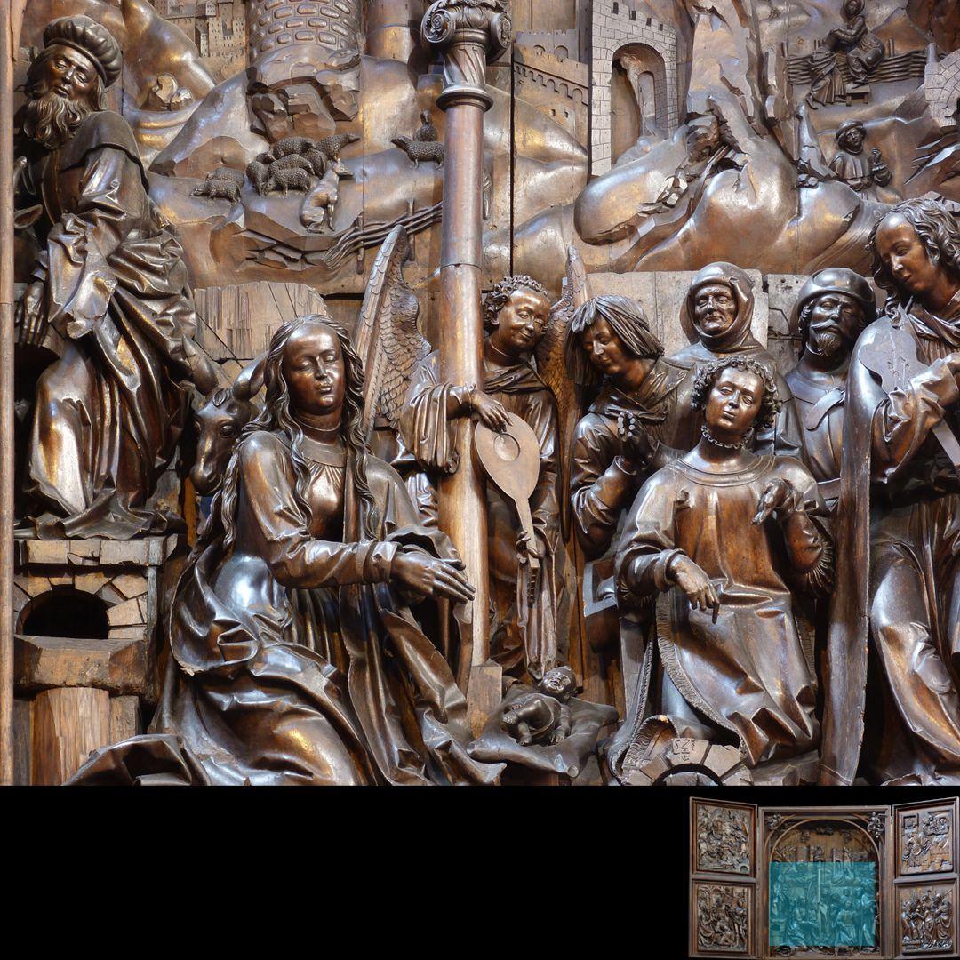 Marien-Altar Schrein, Hauptfiguren