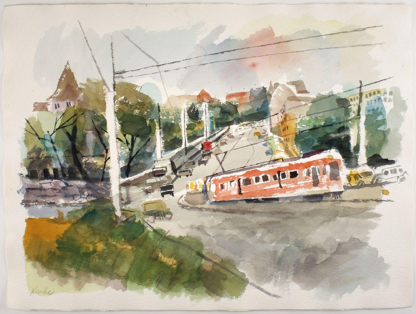 Tramway at the moat