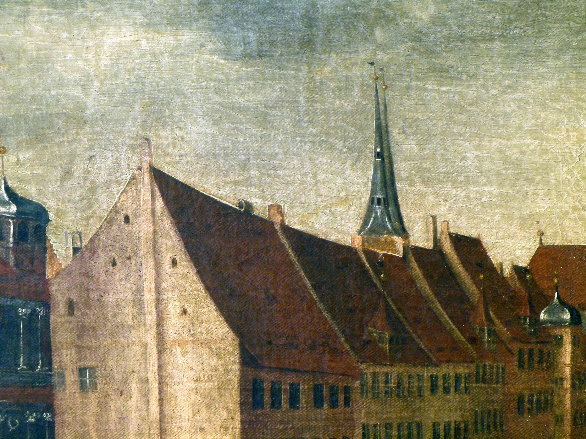 The Nuremberg Main Market (Hauptmarkt) Detail, west side