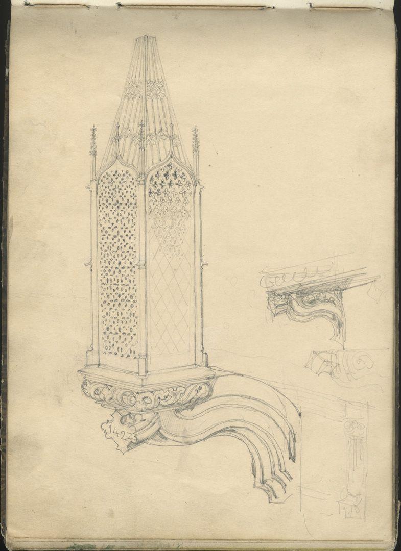 Sketchbook with views of Streitberg and Neideck / incl. Hallerweiherhaus in Nuremberg Death lamp of the Schreyer-Landauer epitaph at the Sebaldus church