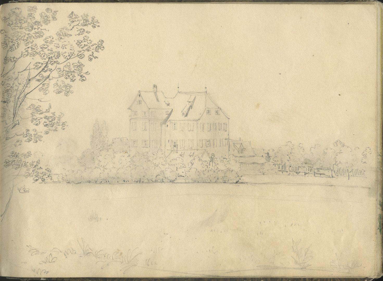 Sketchbook with views of Streitberg and Neideck / incl. Hallerweiherhaus in Nuremberg Picture Hallerweiherhaus (destroyed in 1944), Hainstraße (see: Castles and manor houses / Giersch, Schlunk and v. Haller)