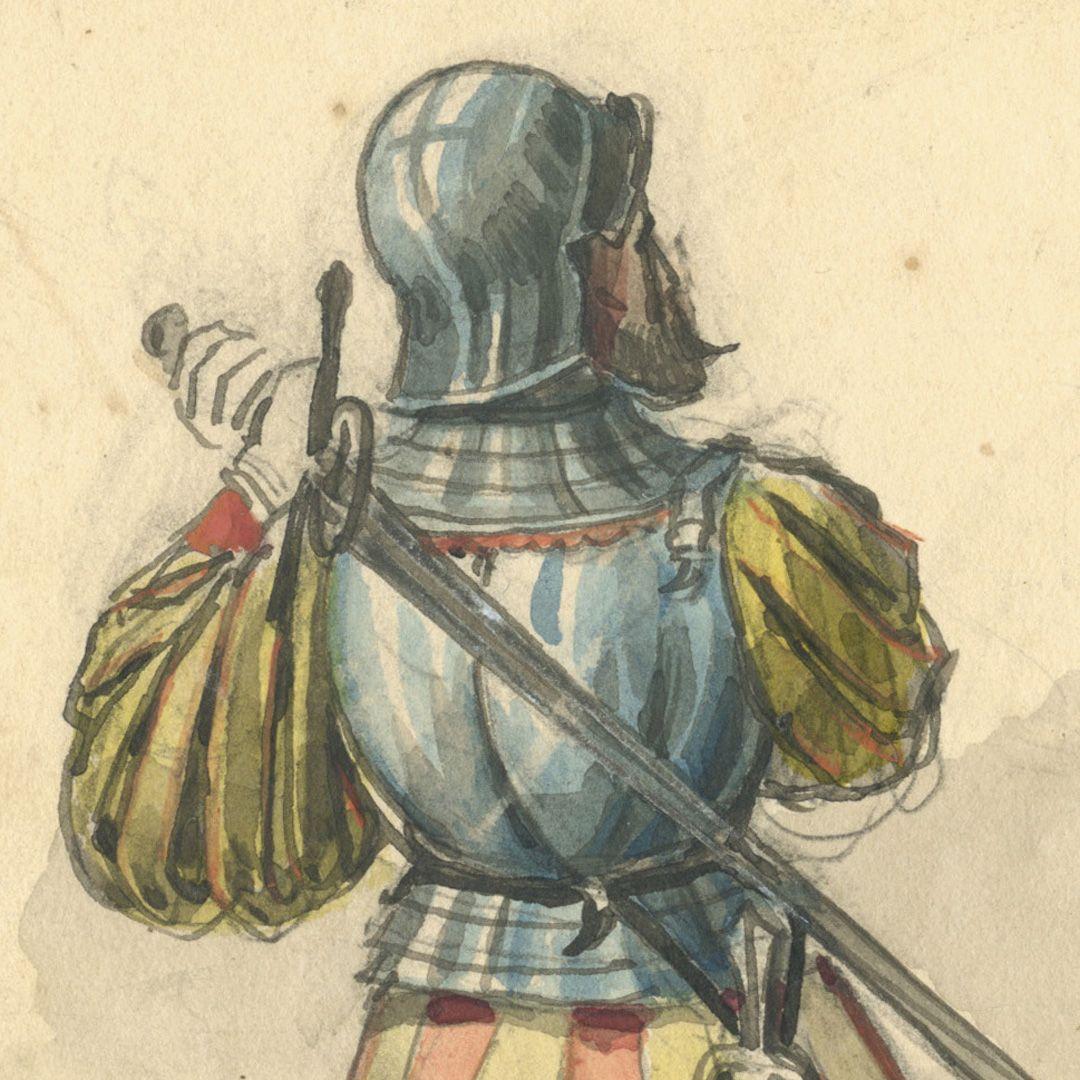 Sketchbook with views of Streitberg and Neideck / incl. Hallerweiherhaus in Nuremberg Last page, detail