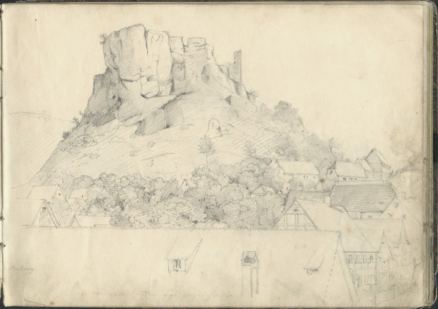 Sketchbook with views of Streitberg and Neideck / incl. Hallerweiherhaus in Nuremberg Streitberg
