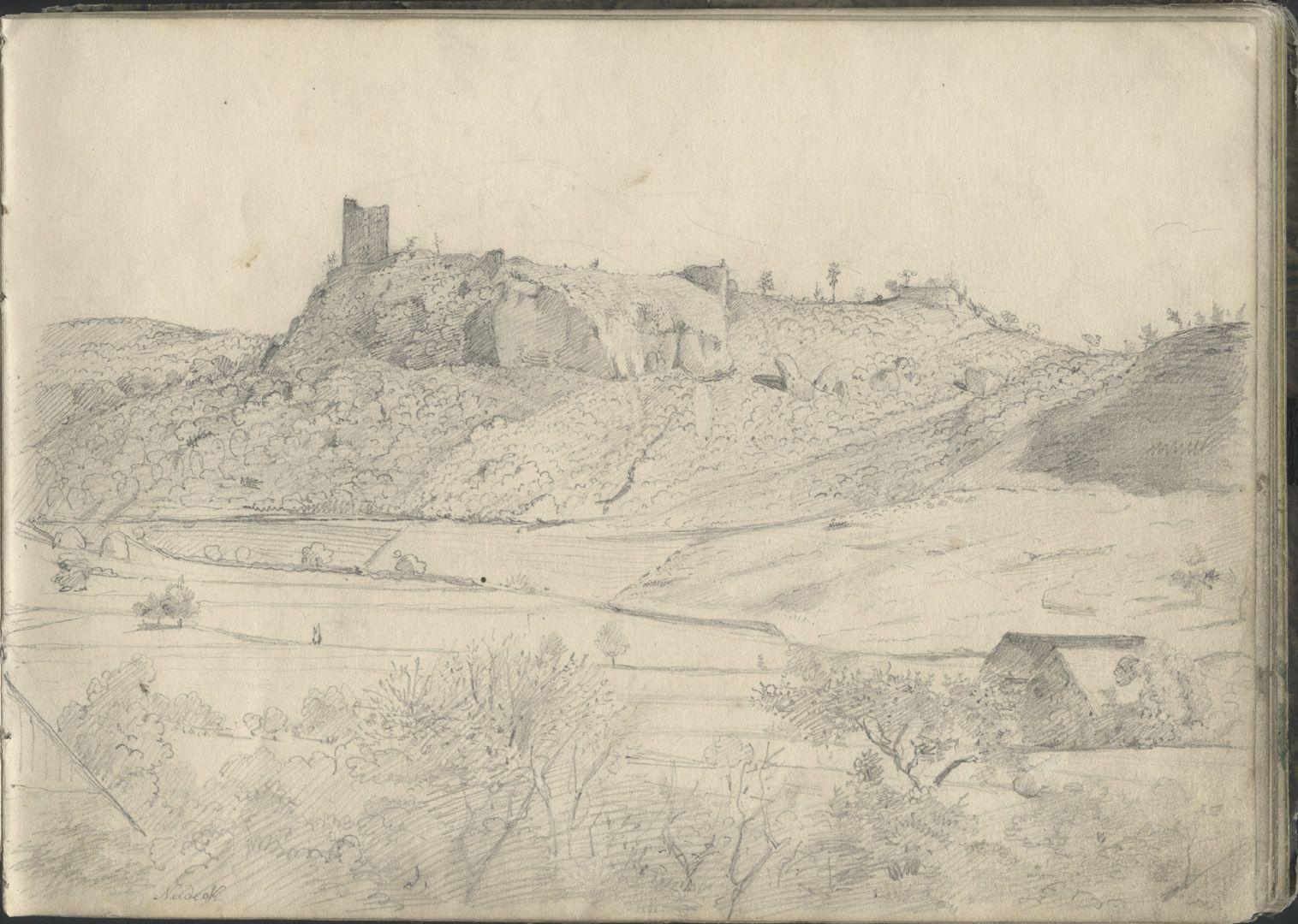 Sketchbook with views of Streitberg and Neideck / incl. Hallerweiherhaus in Nuremberg Neideck