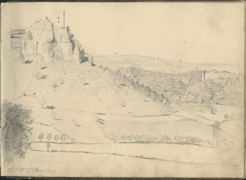 Sketchbook with views of Streitberg and Neideck / incl. Hallerweiherhaus in Nuremberg Neideck and Streitberg