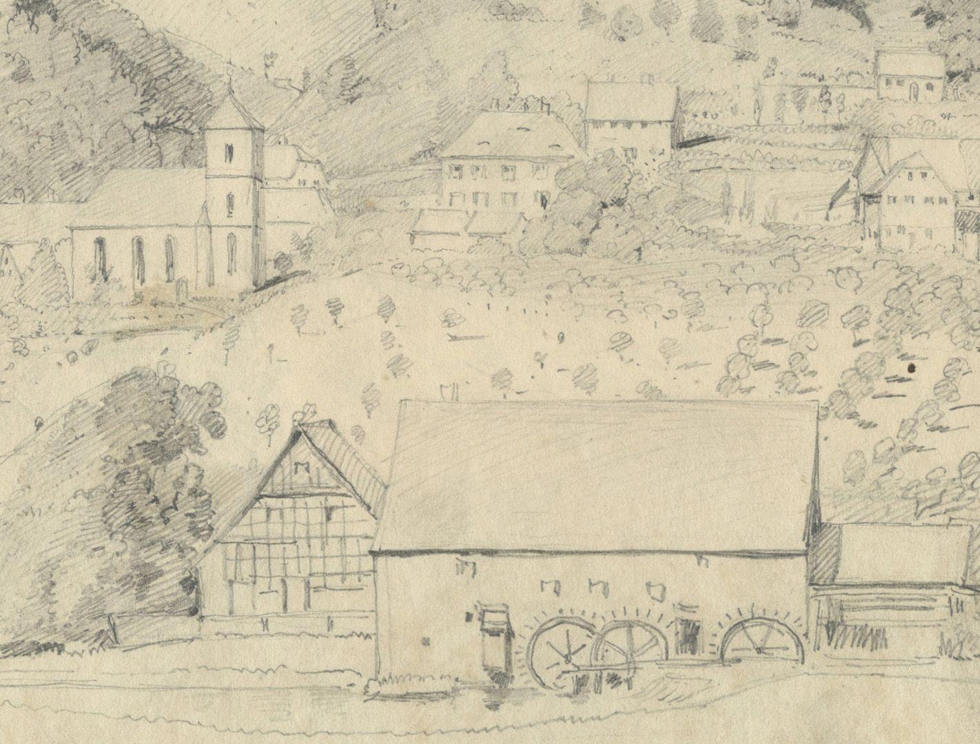 Sketchbook with views of Streitberg and Neideck / incl. Hallerweiherhaus in Nuremberg Picture Streitberg, detail
