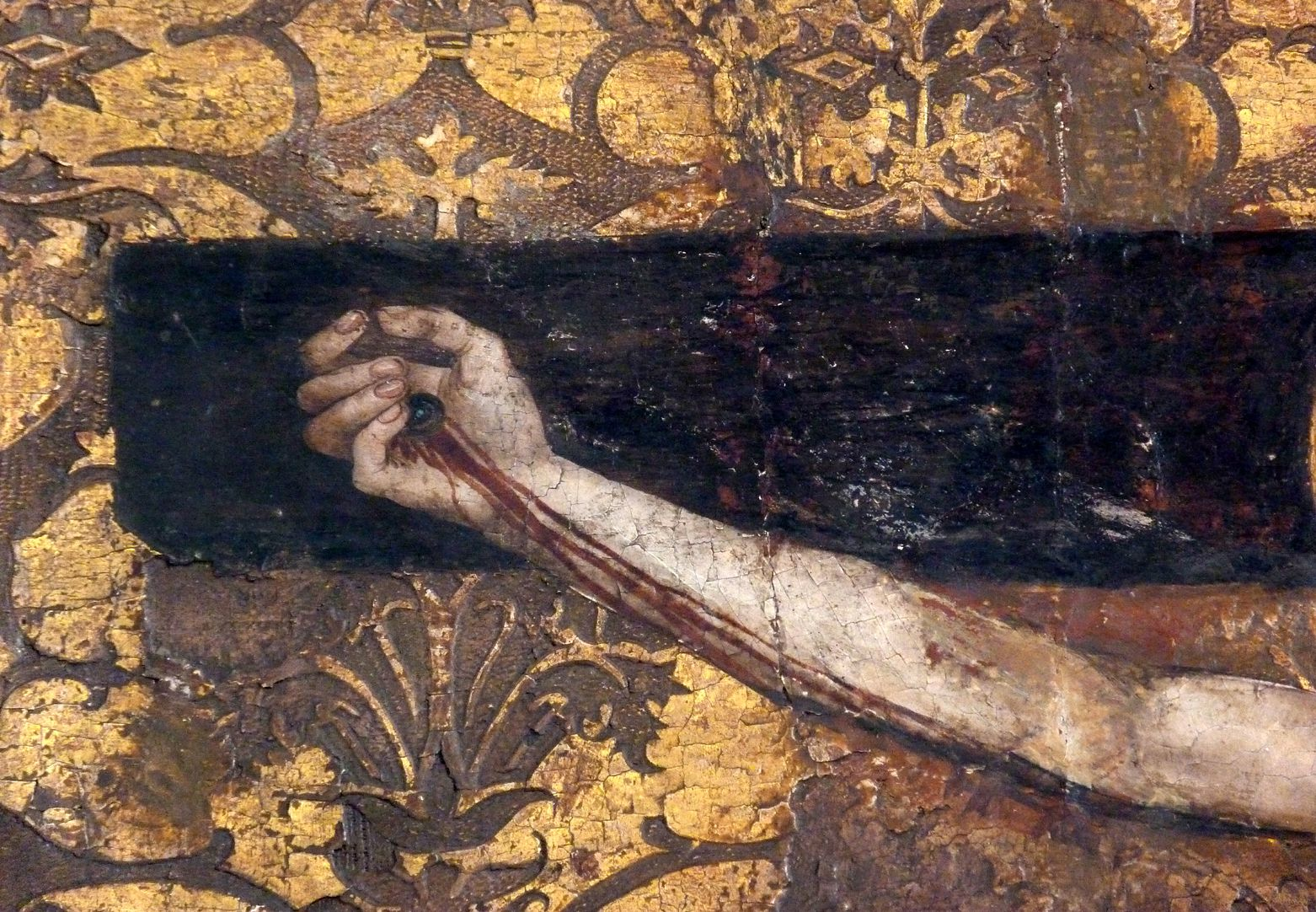 Epitaph der Obernitz Der Gekreuzigte, rechter Arm