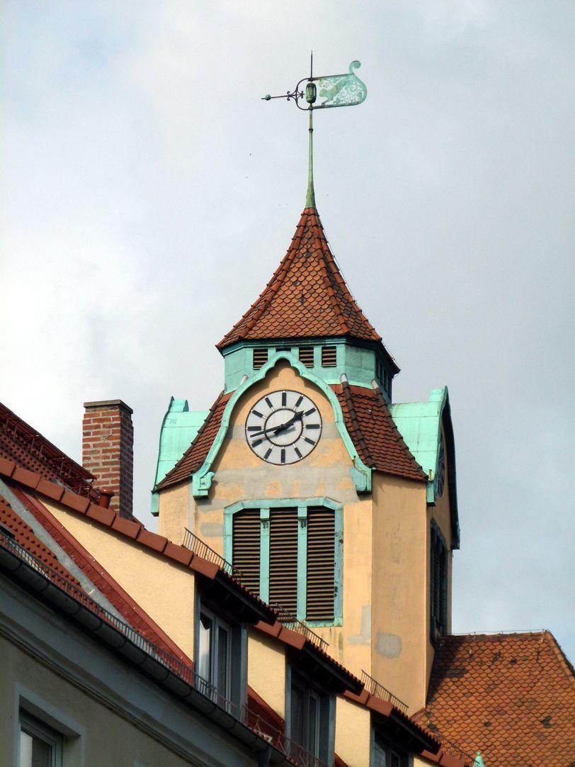 Ludwig-Uhland-School Clock turret