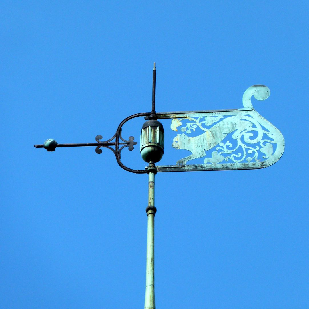 Ludwig-Uhland-School Weather vane on the clock turret