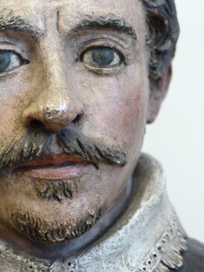 Bust of an unknown man Gesicht, Detail