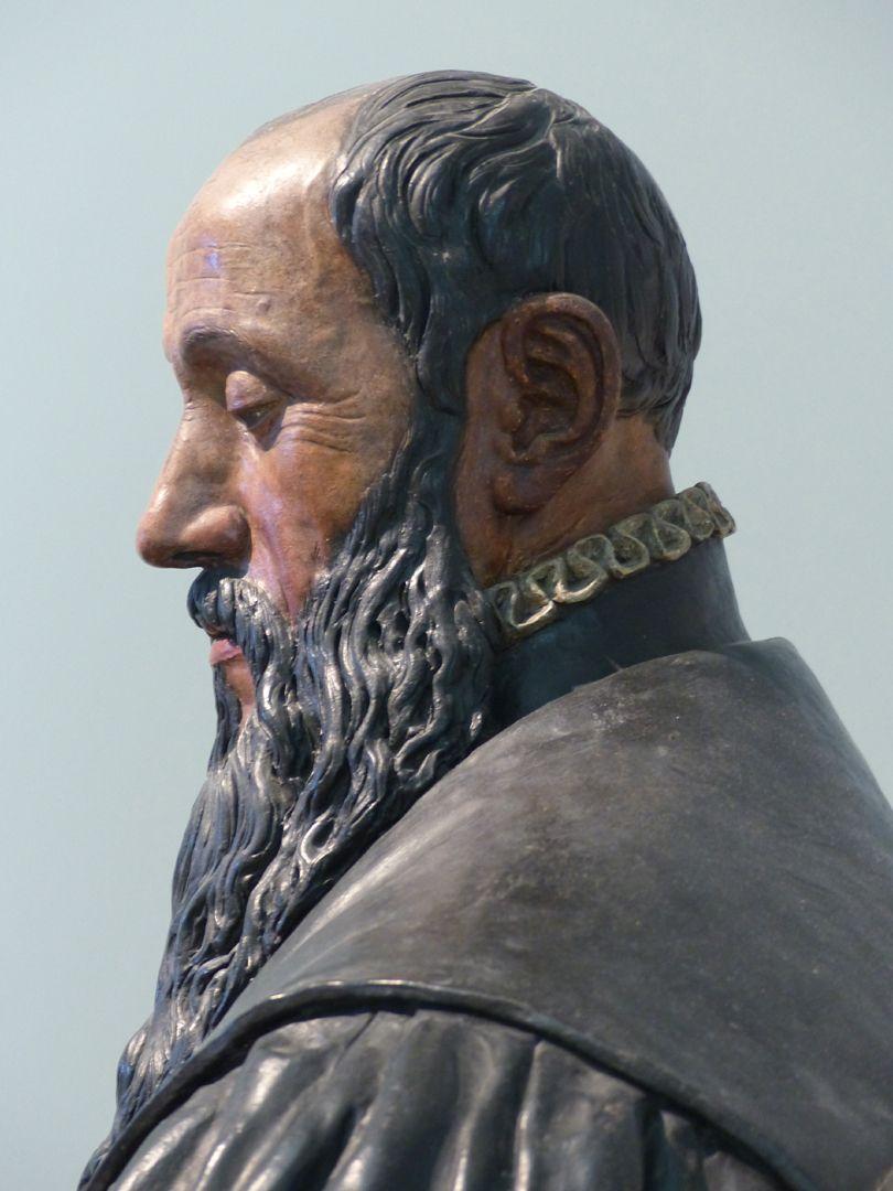 Büste des Willibald Imhoff d.Ä. linkes Kopfprofil