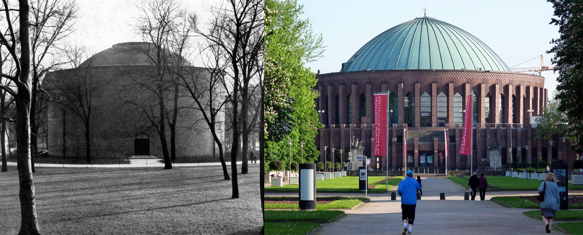 Planetarium EXAMPLE FOR COMPARISON: Düsseldorf, Tonhalle, architect: Wilhelm Kreis , view from Museum Kunst Palast (Art Palace)