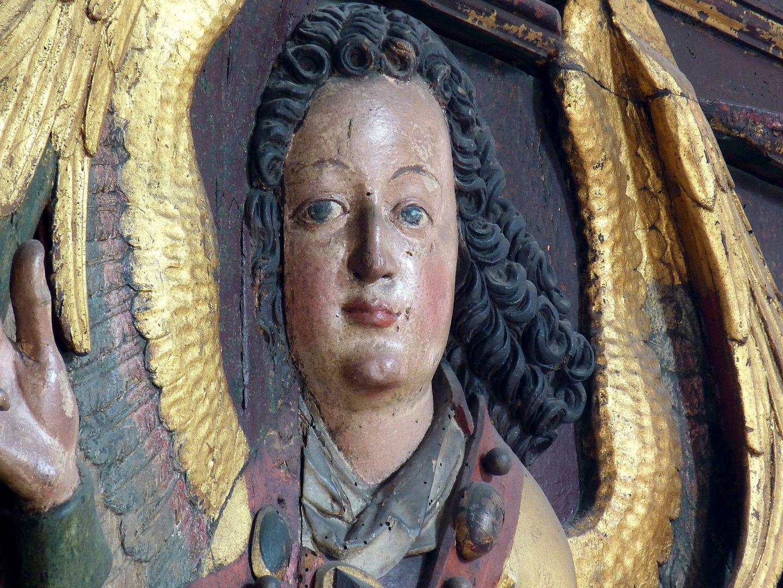 Reliefs einer Verkündigung Mariens Gabriel, Gesicht