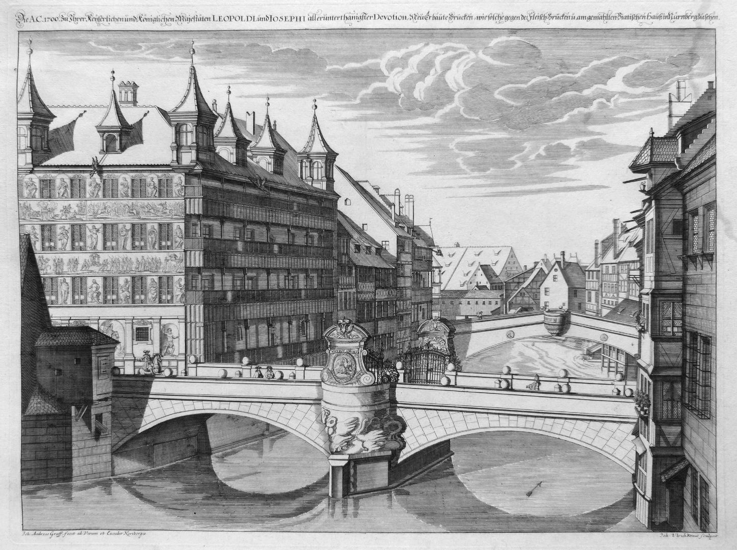 """The A.C.1700 to his Imperial and Royal Majesty´s…"" New Bridge with Viatis House"