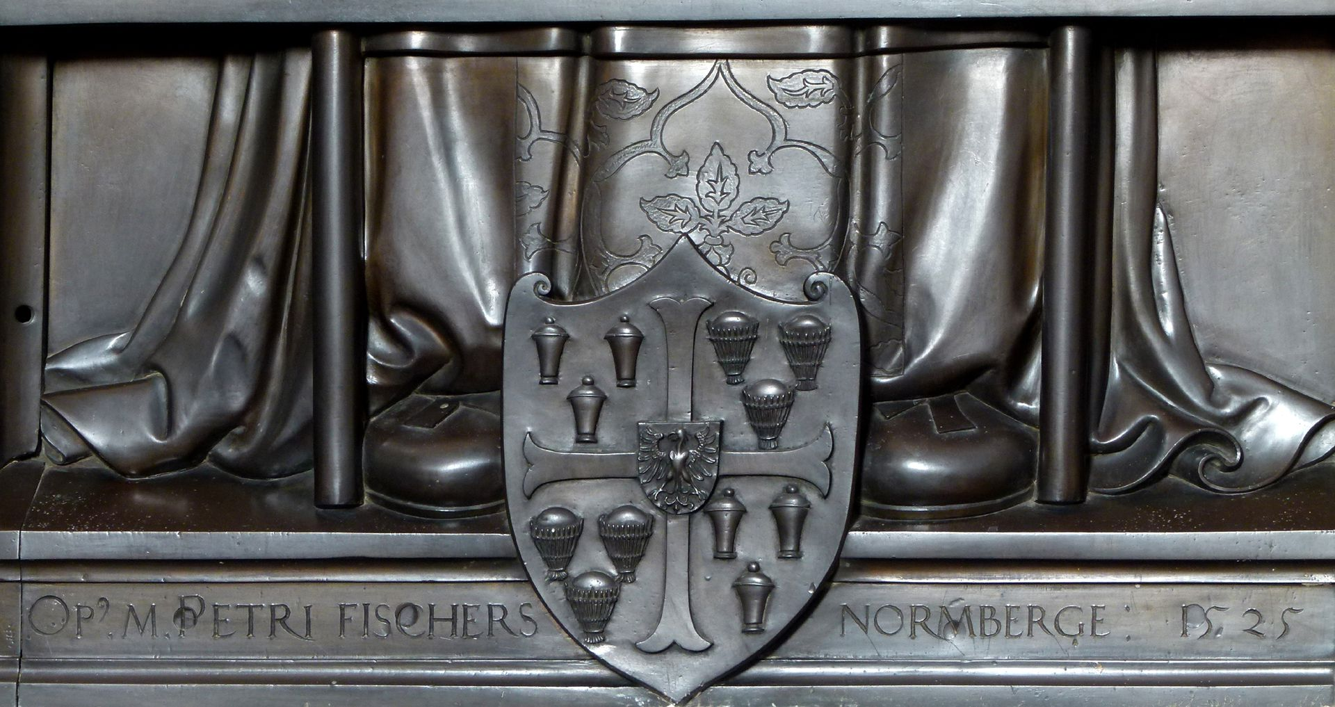 Memorial panel of Albrecht of Brandenburg Artist´s signature and dating