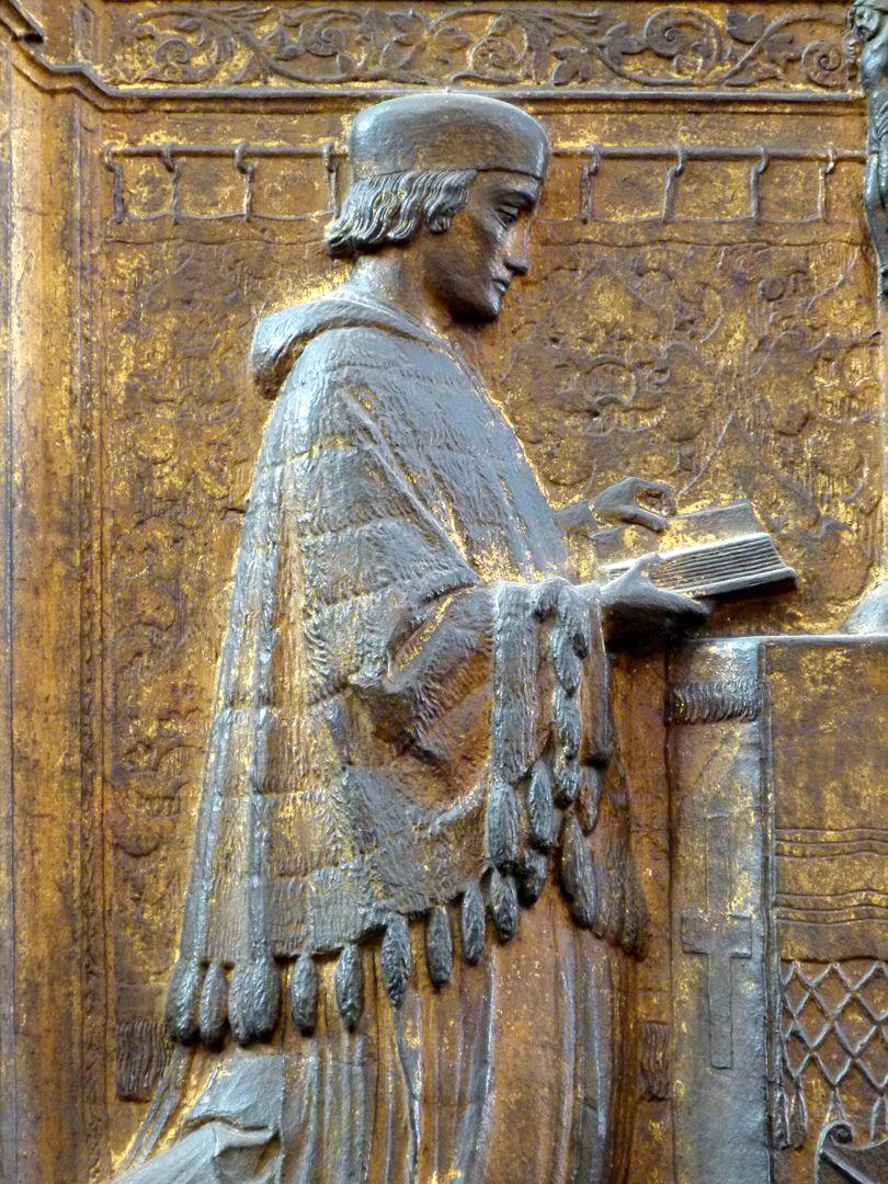 Epitaph for Dr Anton Kress Detail of the man praying