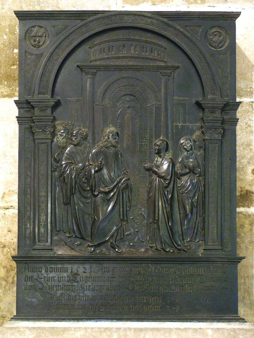 Brass epitaph of Margarete Tucher Total view