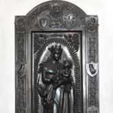 Memorial of Albrecht of Brandenburg: Mary standing on a crescent moon