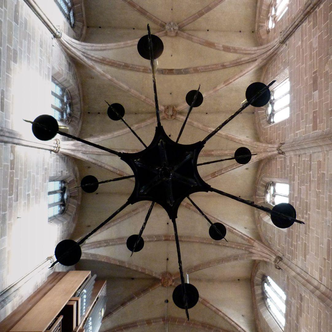 Bronze chandelier Chandelier from below