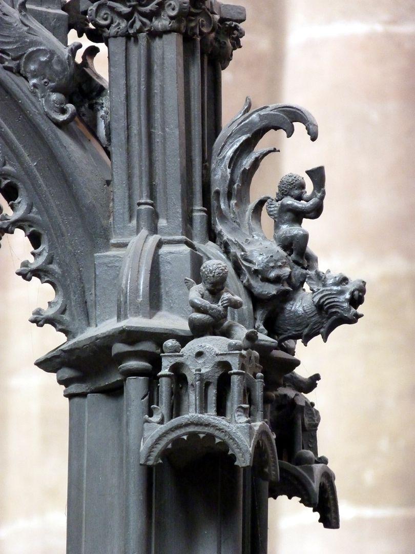St. Sebaldus Tomb Putto riding on a fantasy creature
