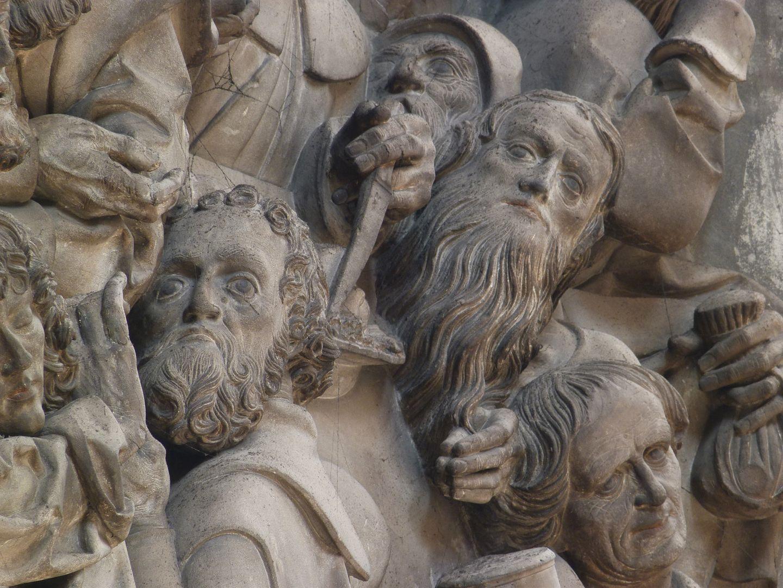 Volckamer Memorial Foundation, relief plates Letztes Abendmahl, Apostelköpfe