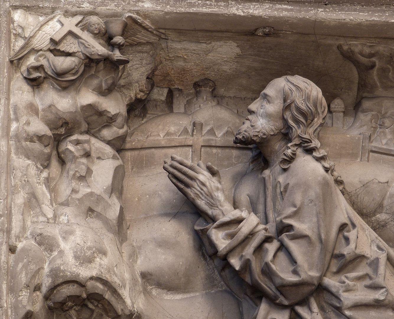 Volckamer Memorial Foundation, relief plates Ölberggebet, der betende Christus