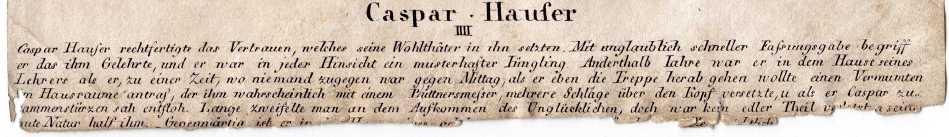 Caspar Hauser IV Caption