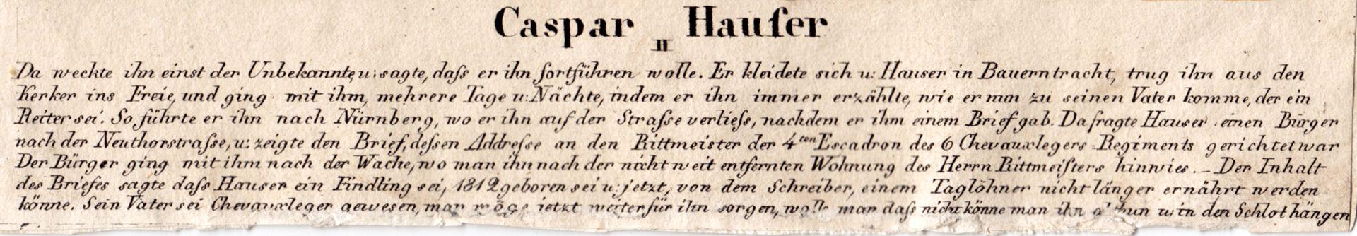 Caspar Hauser II Caption