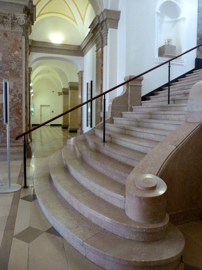Former Bavarian Trade and Business Institute (Landesgewerbeanstalt) Vestibule, staircase