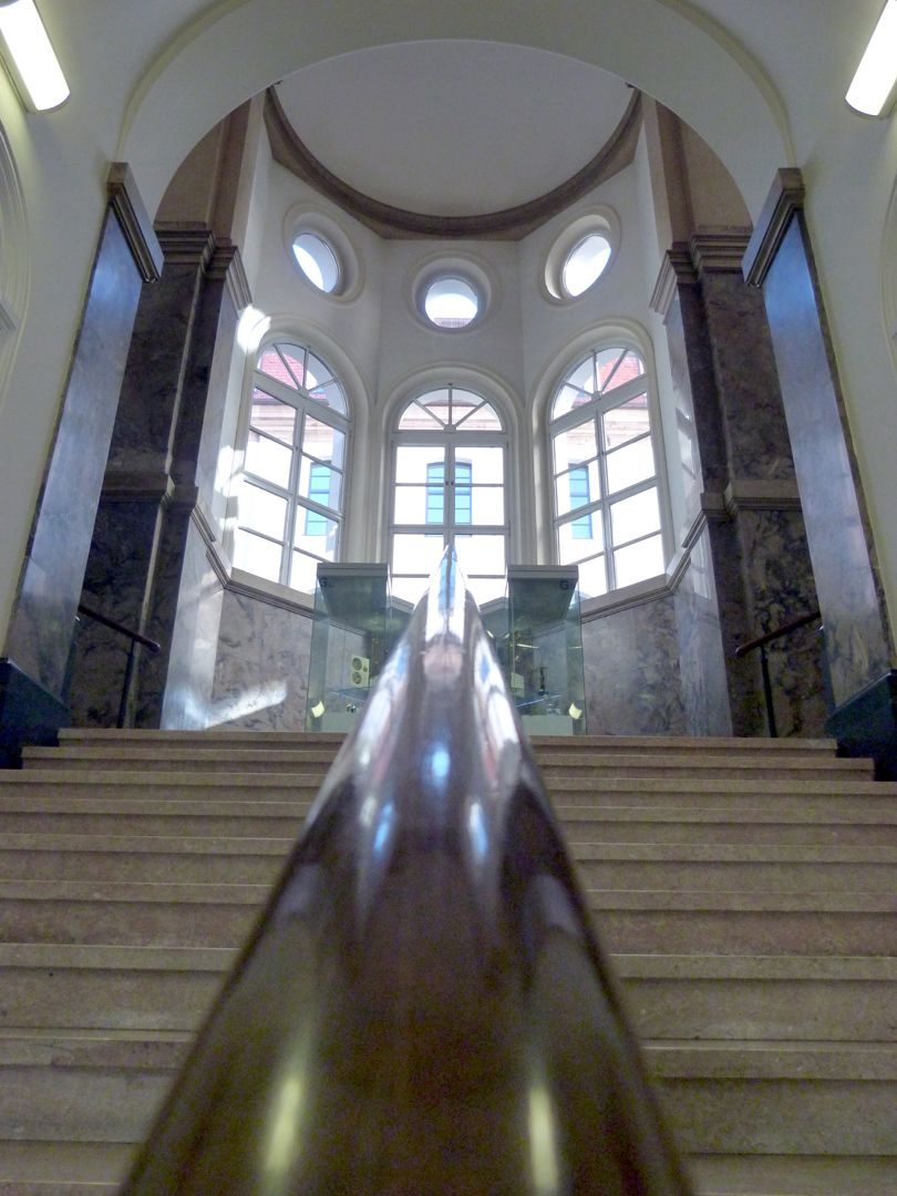 Former Bavarian Trade and Business Institute (Landesgewerbeanstalt) Staircase leading to the stair landing