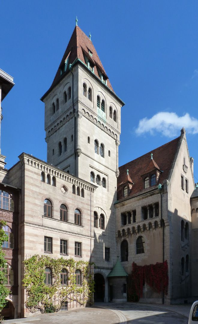 Castle Faber-Castell Courtyard with Bürckleins wing, Kramer main tower and entrance
