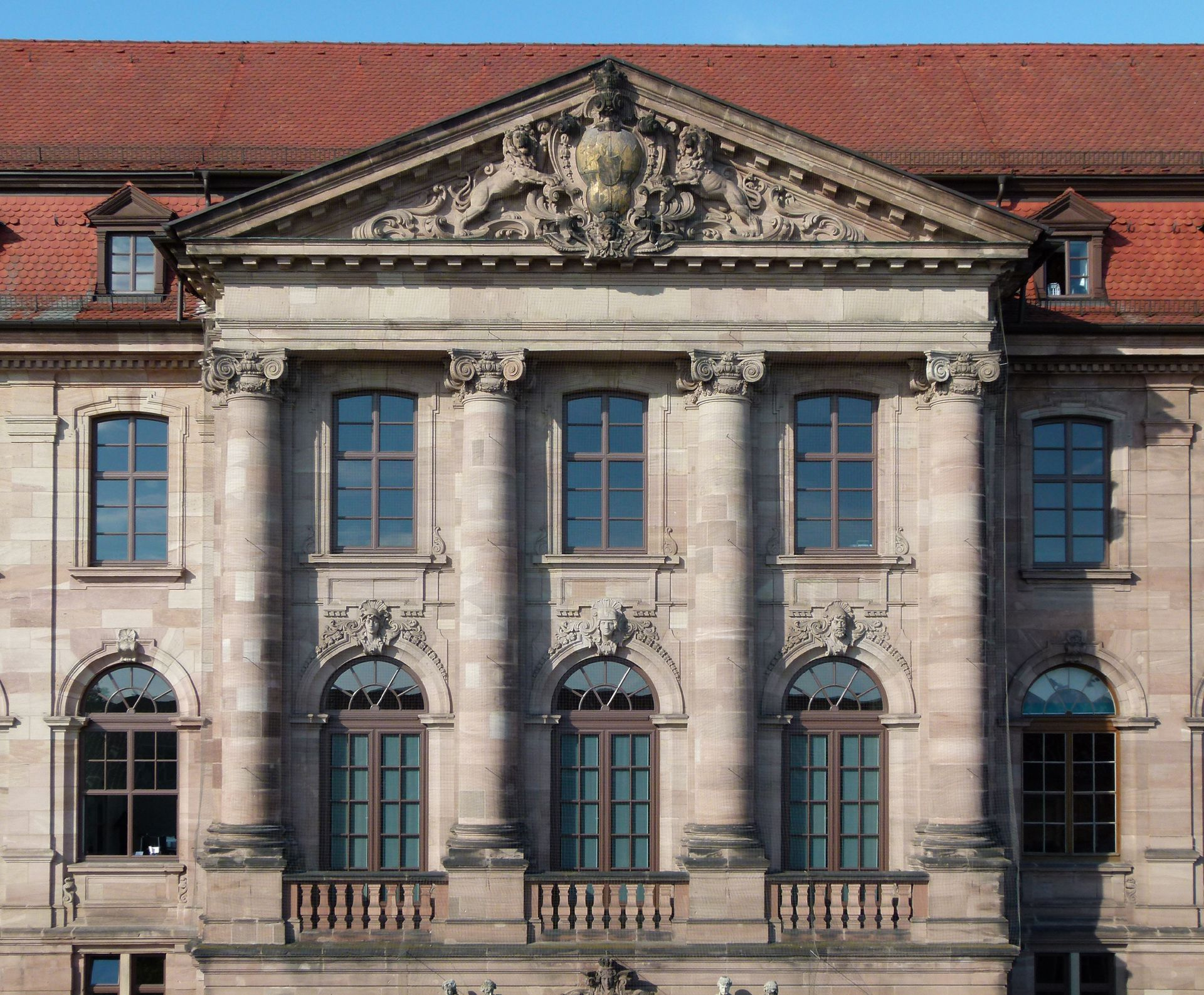 Former Bavarian Trade and Business Institute (Landesgewerbeanstalt) Main entrance front, northeast, detail