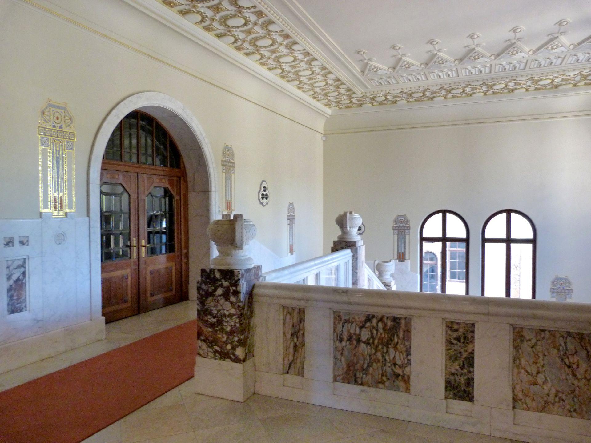 Castle Faber-Castell Jugendstil stair well, upper storey