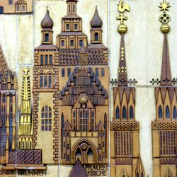 Ceramic relief of the Nuremberg Old City