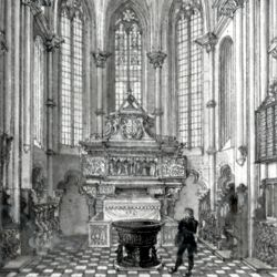 Interior of St. Sebaldus Church in Nuremberg, west choir
