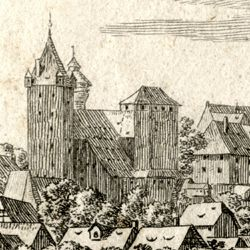 The castle in Nuremberg, seen from Judenbühl