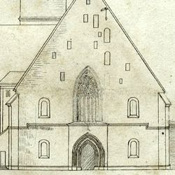 Draft for the new design of St. Jacob´s church in Nuremberg