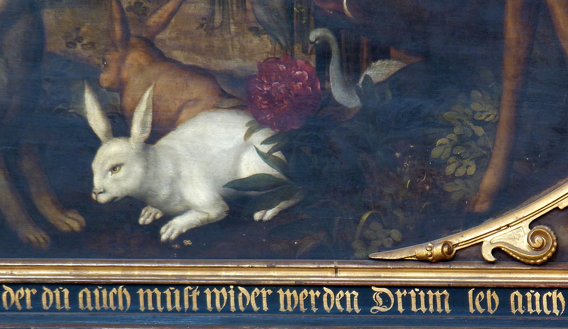 Remembrance picture of the family Behaim Animals of Paradise, hares