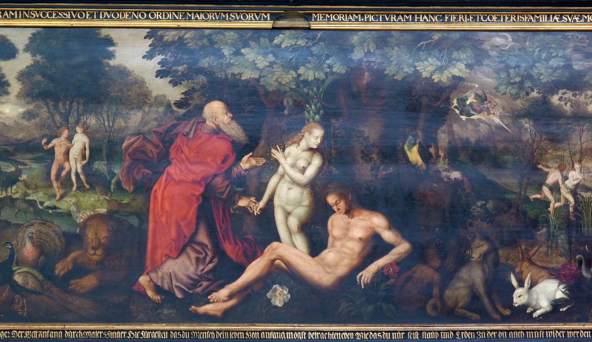 Remembrance picture of the family Behaim Creation of Eve
