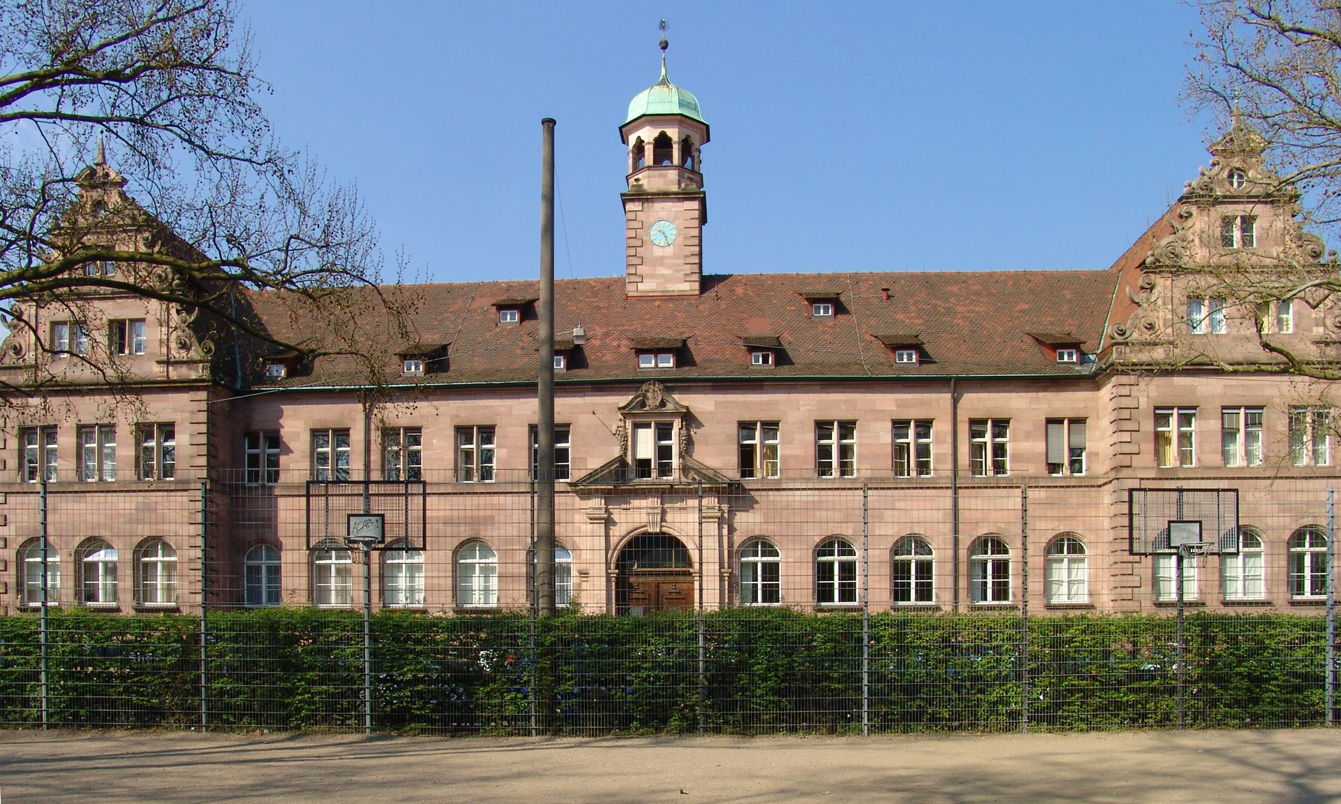 Main Building of the Clinical Centre North Front view
